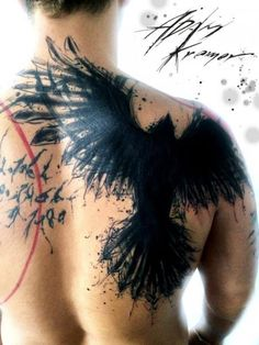 Tatouage Retour Corbeau par Tribo Tattoo