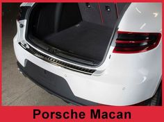 2014 + Porsche Macan - Graphite Brushed Stainless Steel Rear Bumper Protector