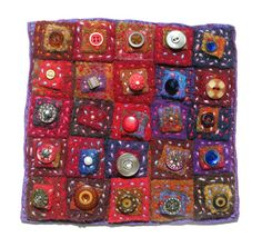 Morna Crites-Moore - Sunset Dreams - recycled felted sweaters, buttons