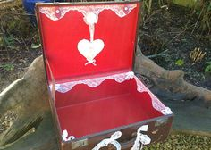 Vintage Suitcase  shabby chic style by youruniquescrapbook on Etsy, £59.99