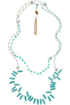 ROSANTICA Rosarietto 24-karat gold-plated turquoise necklace $525