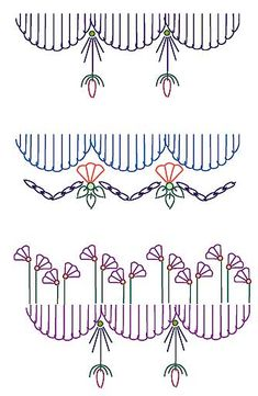 Seam embellishment stitch combination 10, 11, 12