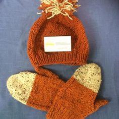 Irish Hand Knit Mitts & Beanie Hat with Pompom, CraftyIrelandTeam, Adults Unisex by TheCraftyShamrock on Etsy Knit Beanie, Beanie Hats, Craft Sites, Hand Knitting, Tweed, Knitted Hats, Irish, Shapes, Unisex