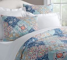 Chelsea Wholecloth Printed Quilt , King/Cal. King, Multi