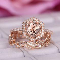 Handmade Engagement Rings, Dream Engagement Rings, Rose Gold Engagement, Engagement Wedding Ring Sets, Engagement Bands, Morganite Engagement Rings, Wedding Ring Sets Unique, Wedding Bands, Wedding Venues