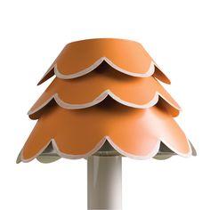 image of Orange Flounce Chandelier Shade  StrayDogDesign.com