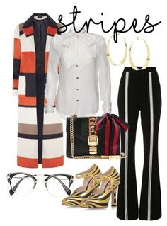 """""""Parallels & Horizontals #boldstripes"""" by nedixon on Polyvore featuring Dorothy Perkins, Frame, Jonathan Simkhai, Gucci and Lana"""