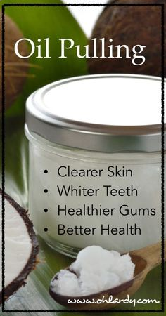 Oil pulls toxins, bacteria, viruses, fungi, yeast, plaque and more out of your mouth. Take a spoonful of coconut oil in mouth first thing in the morning. Swish for 20 minutes. Do this while you are showering, getting dressed, etc. Spit out the oil into the garbage (Do not swallow and dont spit in sink, it may clog your pipes!). Rinse with warm water.Brush with baking soda - diyenergy.co