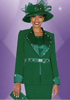 French Novelty Suits | Plus Size Womens Church Suits BenMarc Fifth Sunday Suit 52521 image
