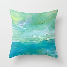 Ocean Breeze Throw Pillow by laurimatisse Matisse, Breeze, Tie Dye, Ocean, Throw Pillows, Fashion, Fashion Styles, Tye Dye, Decorative Pillows
