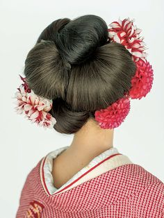 Up Hairstyles, Pretty Hairstyles, Wedding Hairstyles, Pretty Updos, Geisha Hair, Traditional Hairstyle, Wedding Headdress, Hair Arrange, Hair Shows