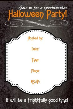 Free Halloween party invitations! #freeprintables #halloween #invitation