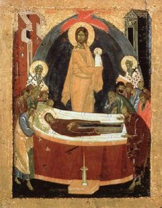 Dormition of the Virgin   Theophanes the Greek   c. 1392   tempera on wood   34…