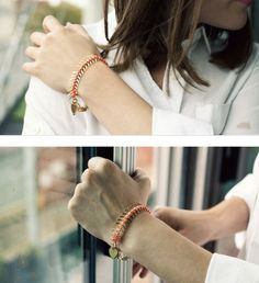Cute little bracelet.. I need to make this!
