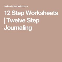 12 Step Worksheets On Control: Printables 12 Steps Of Na ...