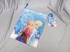 DAISO JAPAN Disney Drawstring bag frozen Anna & Elsa accessory case #DAISO