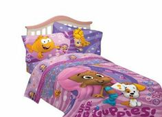 Nickelodeon Bubble Fun Guppies Cotton/Polyester Sheet Set, Twin by Nickelodeon. $31.95. Machine wash cold before use, non-chlorine bleach when necessary. Tumble dry low setting, remove promptly. Use warm iron when needed. Machine wash cold before use, non-chlorine bleach when necessary. Tumble dry low setting, remove promptly. Use warm iron when needed.. This twin sheet set is made of soft 60% cotton and 40% polyester and features the Bubble Guppie Characters. This twin she...
