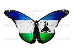 Lesotho Flag, Flag Vector, Animals, Animais, Animales, Animaux, Animal, Dieren