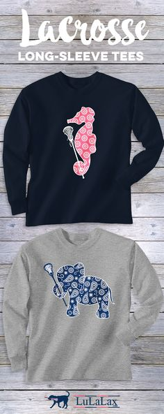 Lax girls love our NEW 2017 long-sleeve tees...perfect for your #lacrosse lifestyle, on and off the field! #lulalax