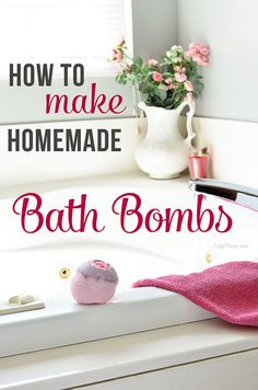 Make your own HOMEMADE BATH BOMBS - great for relaxation and gift giving! TidyMom.net