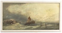 Lot 2798  William Henry Williamson  (British, 1820-1883)  Fishing at Dusk  oil on canvas  signed W.H. Williamson (lower left)  12 x 24 inche...