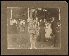 October, what a great month, American Archives Month and Autumn Fairs!  See how some artists have celebrated the season.       John White Alexander dressed as a mummy at the Autumn Fair, Onterora, N.Y., 1903 / C. O. Bickelmann, photographer. John White Alexander papers, Archives of American Art, Smithsonian Institution.