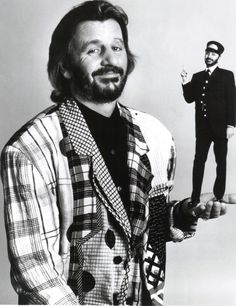 Ringo Starr as Mr. Conductor Ringo Starr with the Reverend W. The Four Loves, The Fab Four, Ringo Starr, Great Bands, Cool Bands, Les Beatles, Beatles Art, Beatles Photos, Richard Starkey