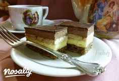 3bit szelet csokimázzal | Nosalty Nutella, Tiramisu, Cheesecake, Sweets, Cooking, Ethnic Recipes, Sweet Stuff, God, Baking