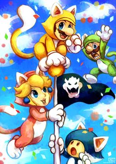 "Super Mario 3D World - ""Meow"" by Haychel.deviantart.com on @deviantART"