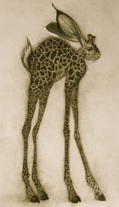 Sharlena Wood... Strange lol reminds me of a jack a lope! But like a.. Rabbit and a giraffe lol
