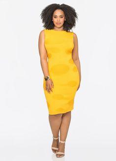 Textured Circle Sleeveless Dress