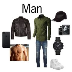 """Men"" by evagroenen ❤ liked on Polyvore featuring Emporio Armani, Giorgio Armani, Nudie Jeans Co., LE3NO, NIKE, Sandro, River Island, men's fashion and menswear"