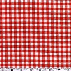Oil Cloth Gingham Red $6.98 per yard