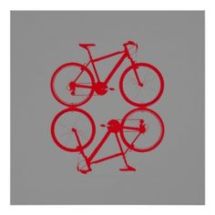 two red bikes print Graphic Posters, Poster Prints, Bike Icon, Create Yourself, Red, Inspiration, Design, Biblical Inspiration
