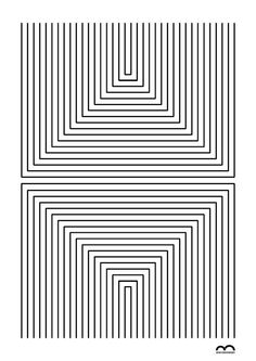 Linea by Marcos Bernardes. Get examples to show students for Op Art Illusion Kunst, Illusion Art, Art Optical, Optical Illusions, Geometric Designs, Geometric Art, Op Art, Art Sketches, Art Drawings