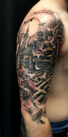 tattoo sleeve creepy castle with maze. I love the maze 8531 Santa Monica Blvd West Hollywood, CA 90069 - Call or stop by anytime. UPDATE: Now ANYONE can call our Drug and Drama Helpline Free at 310-855-9168.