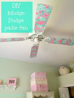 DIY Paddle Fan Makeover in under 60 minutes- Such a simple upgrade {the House of Hendrix}