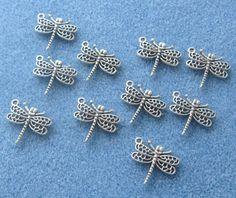 Dragonfly Charms Jewelry Supplies Beading by CatsBeadKitsandMore