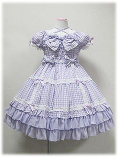 Angelic Pretty - Lovely Ribbon Gingham OP /// ¥26,040 /// Bodice is fully shirred.