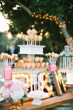 Pie pops: http://www.stylemepretty.com/california-weddings/2015/02/22/glitter-and-gold-wedding-at-holman-ranch/ | Photography: This Love of Yours - http://thisloveofyours.com/