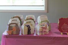 Custom made cupcake gable boxes.