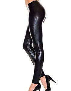 Black Liquid Pvc Leggings Pants