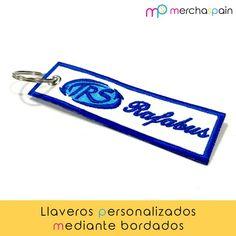 #Llaveros personalizados mediante técnica de bordado. ¡Pide los tuyos y no pierdas más las llaves!  https://merchaspain.com/   #Mallorca #regalospersonalizados #llaverospersonalizados #keyrings #bordado #transfers #promotionalgifts #keys #merchandising #gift