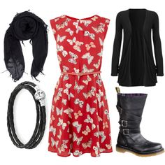 """""""Dress & Boots 1"""" by carolinelquick on Polyvore"""