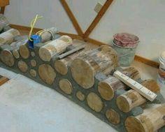 Parede de troncos 1