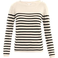 Collette by Collette Dinnigan Beat stripe sweater ($135) ❤ liked on Polyvore