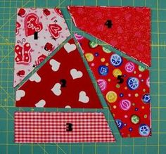 Easy Crazy Quilt Block Tutorial
