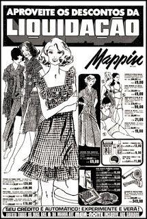 Anúncio Mappin - 1979