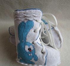 """O sapato """"Croche"""" com a idade de 6 - 12 meses. Discussão sobre LiveInternet - Serviço russo diários on-line"""