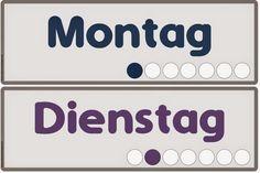 Ideenreise: Die Wochentage auf Deutsch (Wortkarten)
